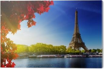 Farve efterår i Paris Akryl Tryk