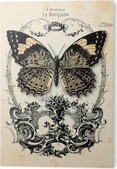 Fond papillon Akryl Tryk