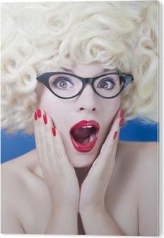 6e1f98b54550 Dejlig pige iført solbriller Plakat • Pixers® - Vi lever for forandringer