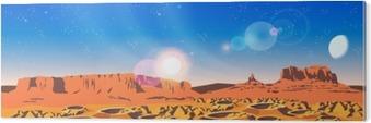 Akrylbilde Planet Landskap