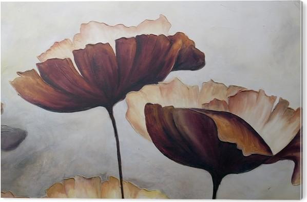 Akrylbilde Poppy abstrakt maleri - Hobby og Fritid