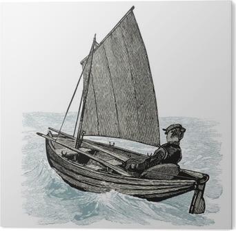 Akryltavla Canot à voile