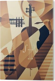 Abstrakti jazz-juliste, musiikkitiedosto Akryylitaulu