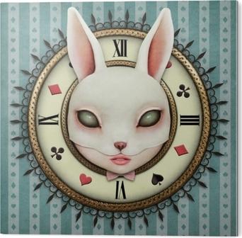 Fantasia-esimerkki taskukellon ihmemaa ja pään mask maskari tyttö Akryylitaulu