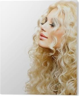 Kauneus tyttö blondi permed hiukset. takapuoli Kangaskuva • Pixers® -  Elämme muutoksille ea0fc614c6