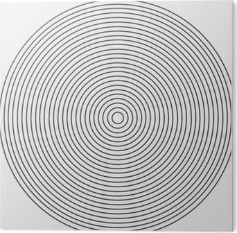 Keskittynyt ympyrä elementti valkoisella pohjalla Akryylitaulu