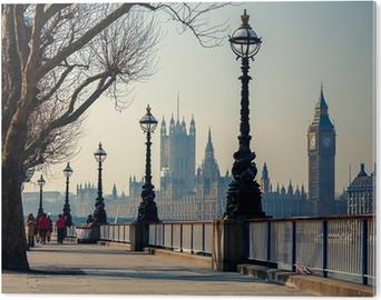 Big ben ja parlamentin talot, lontoo Alumiinitaulu (Dibond)