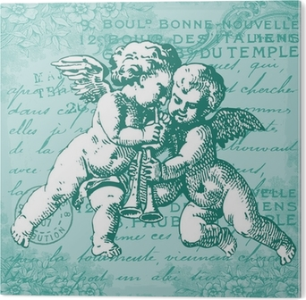 Les anges bleus Alumiinitaulu (Dibond)