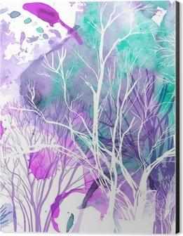 Abstract silhouette of trees Aluminium Print (Dibond)
