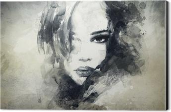 abstract woman portrait Aluminium Print (Dibond)