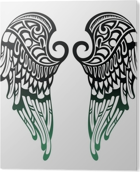 Angel Wingstattoo Design Canvas Print Pixers We Live To Change