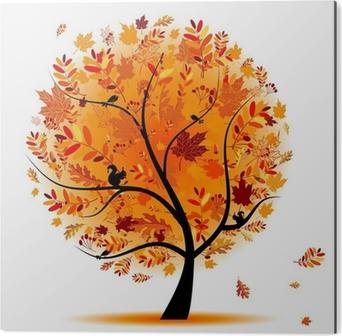 Beautiful autumn tree for your design Aluminium Print (Dibond)