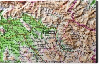 Firenze Cartina Geografica.Cartina Geografica Della Toscana Firenze Wall Mural Pixers We Live To Change