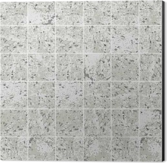Concrete square tile grey grunge texture seamless pattern