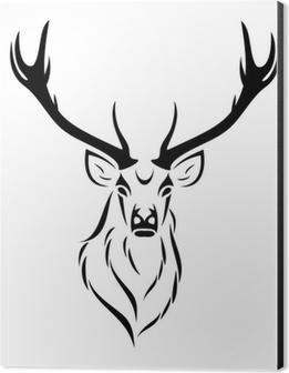 Deer isolated Aluminium Print (Dibond)
