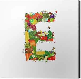 fresh vegetables and fruits letter e sticker pixers we live to change