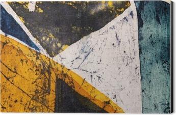 Geometry, hot batik, background texture, handmade on silk, abstract surrealism art Aluminium Print (Dibond)
