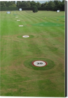 Golf Driving Range With Yardage Markers Wall Mural Pixers We Live To Change