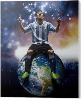 Leo Messi Aluminium Print (Dibond)