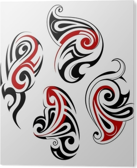 6086b33a1 Taniwha tattoo design Poster • Pixers® • We live to change