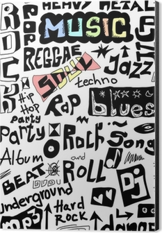 Music words seamless background Wall Mural • Pixers® - We live to change