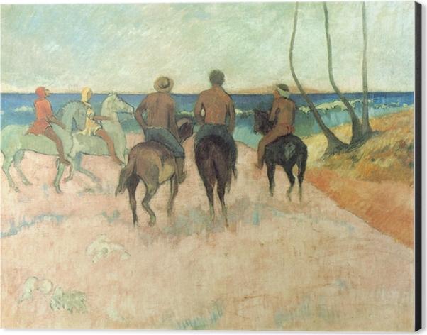 Paul Gauguin - Riders on the Beach Aluminium Print (Dibond) - Reproductions