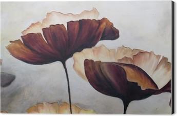 Poppy abstract painting Aluminium Print (Dibond)