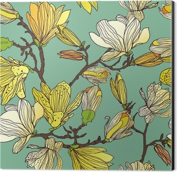 Seamless floral texture Aluminium Print (Dibond)