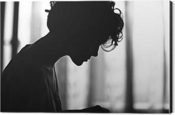 silhouette girl portrait Aluminium Print (Dibond)