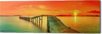 Sunset panorama Aluminium Print (Dibond)