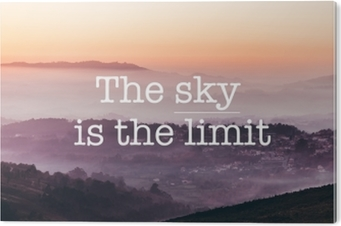 The sky is the limit, foggy mountains background Aluminium Print (Dibond)