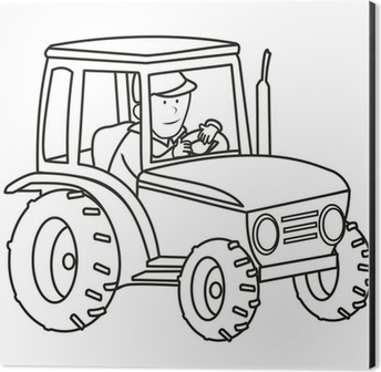 tractor - coloring book Wall Mural • Pixers® • We live to change