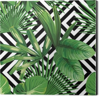 Tropical Palm Leaves Pattern Geometric Background Wallpaper O PixersR We Live To Change