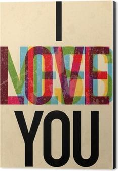 Valentine's Day type text calligraphic Aluminium Print (Dibond)