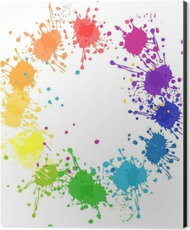 Vector Color Wheel With Flat Colors Without Transparency Aluminium Print Dibond