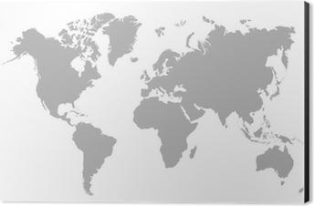 Vector illustration of blank world map wall mural pixers we vector illustration of blank world map aluminium print dibond gumiabroncs Gallery