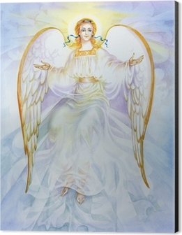 "Watercolor ""Angel"" Aluminium Print (Dibond)"