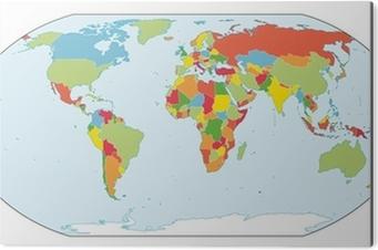 Politisk Verdenskort Plakat Pixers Vi Lever For Forandringer