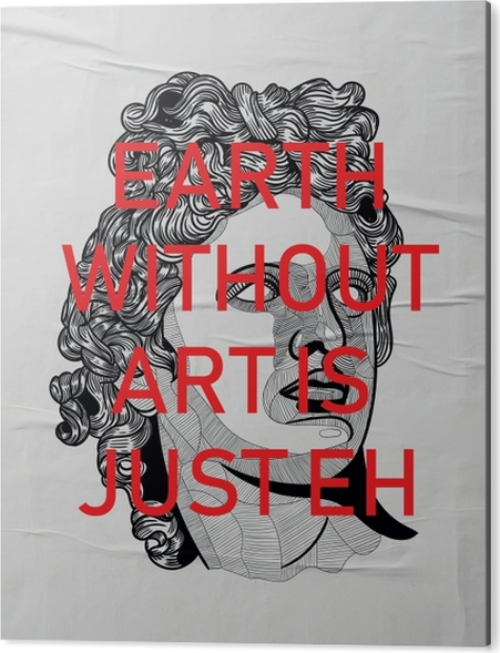 Aluminium Print Bearth without art is just Eh -