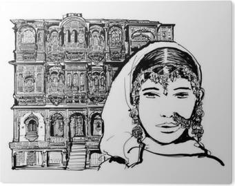Fotobehang gevel van het oude huis in jodhpur india u2022 pixers® we