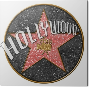 Aluminium Print Hollywood Star