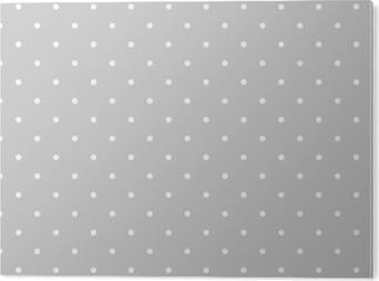 Aluminium Print Naadloze wit en grijs vector patroon of tegel achtergrond met stippen