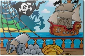 Aluminium Print Piratenschip dek thema 4