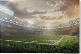 Aluminium Print Sport achtergronden. voetbal stadion.
