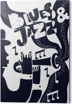 Aluminium Print Vector jazz poter
