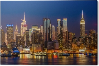 Autocolante Pixerstick New York City Manhattan Edifícios Midtown Skyline Da  Noite U2022 Pixers®   Vivemos Para Mudar