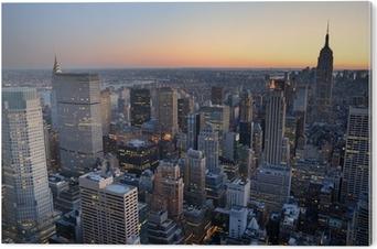 Wunderbar Quadro Em Tela New York City Manhattan Skyline Panorama Sunset Aerial View  With U2022 Pixers®   Vivemos Para Mudar