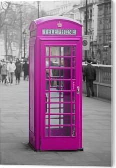 Aluminiumsbilde Telefonboks i London