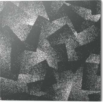 Aluminiumsbilde Vektor abstrakt stipplet rare hipster sømløs mønster. Håndlaget flislagt geometrisk prikket grunge hvit og svart solid enkel bakgrunn. bisarre kunstillustrasjon