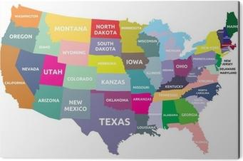 Poster Karta Over Usa Med Stater Pixers Vi Lever For Forandring